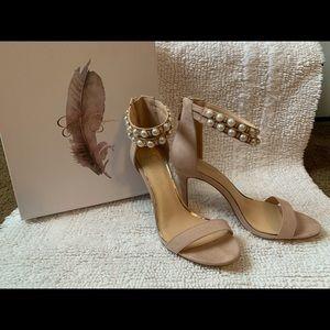Pink Suede dressy sandals